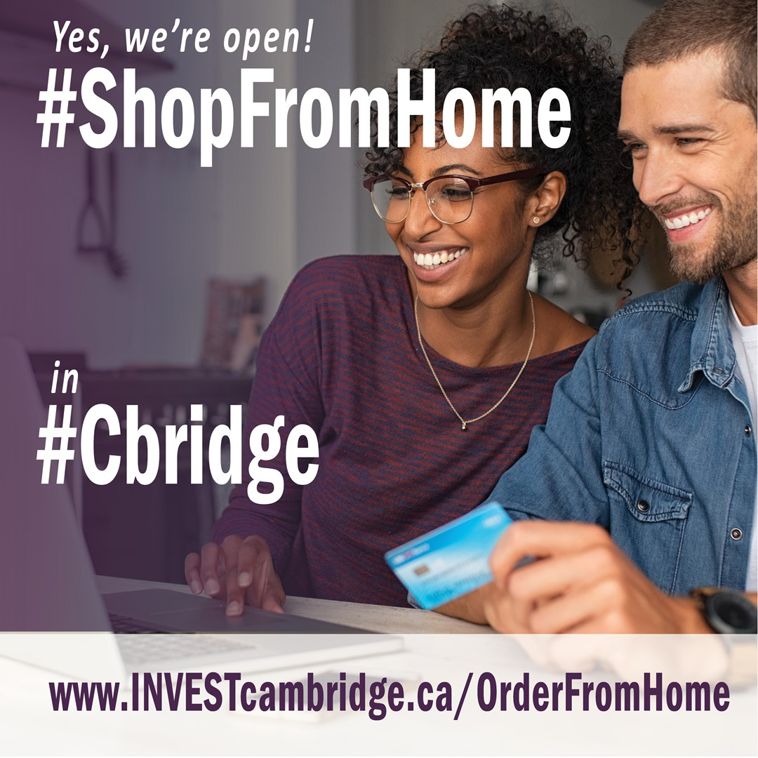 ShopFromHome Twitter graphic for shops