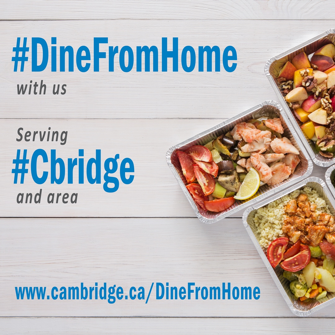 #DineFromHome Serve IG social graphic