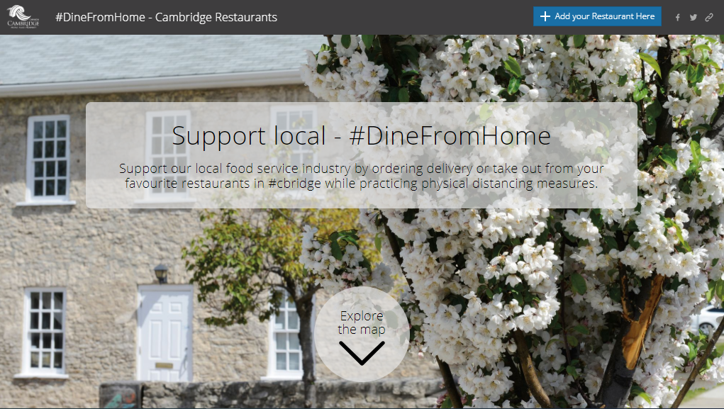 Dine From Home map